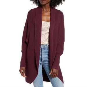 Leith Dolman Sleeve Long Cardigan Deep Purple